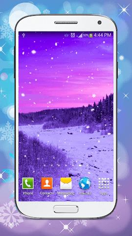 android Hiver Fond D'écran Animé Screenshot 3