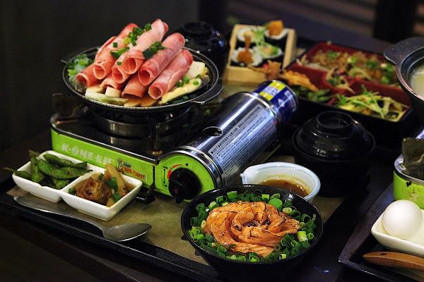 台南美食-樂坐屋~好吃、好喝、好健康阿布里雙燒定食 炒烏龍炸蝦壽司 豚骨白湯豬肉火鍋