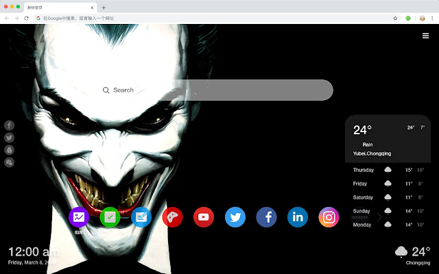 Joker New Tab Page Top Wallpapers Themes