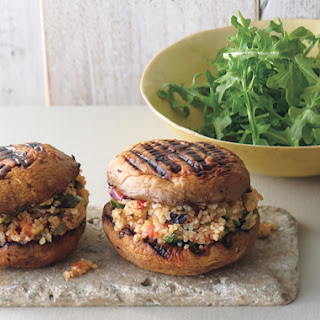 "Grilled Portabella and Bulgur Salad ""Sandwiches"""