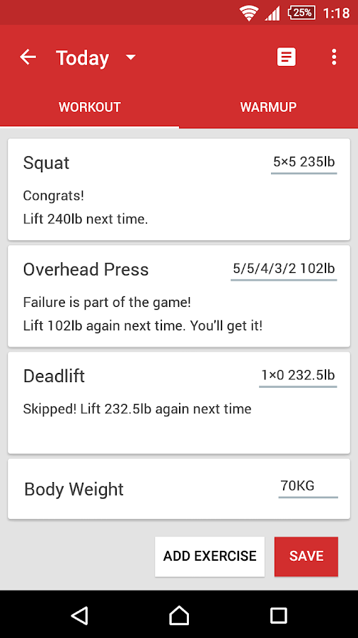 stronglifts 5x5 app