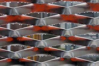 Photo: Rosée sur la résille du #datacenter #reims (Visite de chantier 13.11.2014)