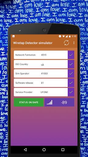 Wiretap Detection Pro  : anti Phone tap simulated 1.0.1 screenshots 1