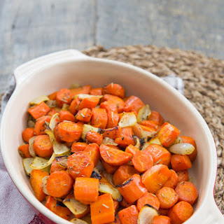 Roasted Rosemary Carrots with Onion.