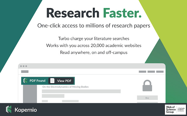 Kopernio - powered by Web of Science