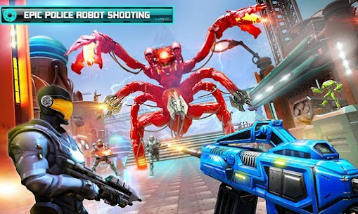 US Police Robot Counter Terrorist Shooting Games 2