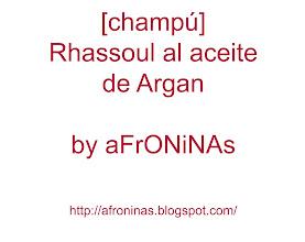 Photo: Champú Rhassoul al Aceite de Argan