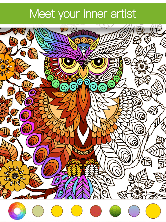 adult coloring book premium screenshot - Coulering Book