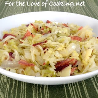 Tangy Sautéed Cabbage and Onions with Bacon.
