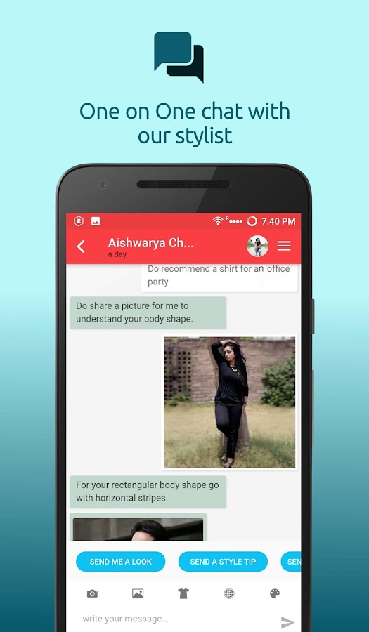 Personal Fashion Stylist App- screenshot