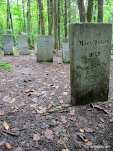 Photo: Headstones at Little River State Park from a walking trail