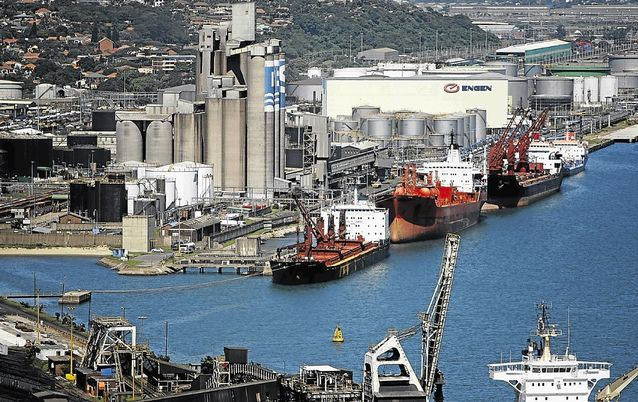 TRANSIT POINT: Durban is one of several ports in SA that will be used for the import of grain including maize, this year. The country's grain imports will be the biggest in seven years as domestic production, hit by the drought, has fallen short of national requirements.  Picture: FINANCIAL MAIL