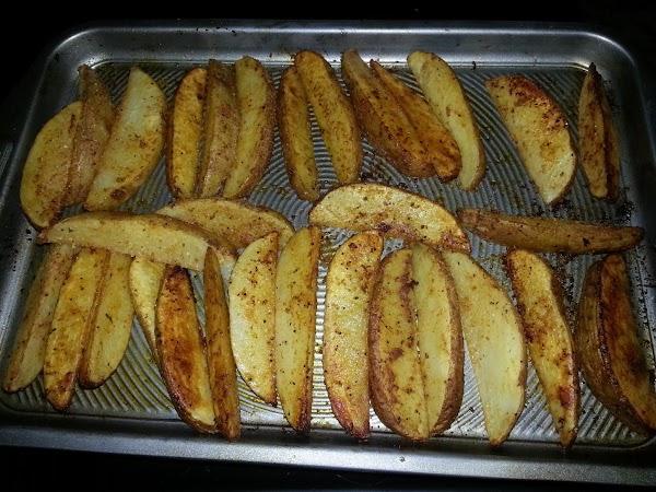 Oven Fried Cajun Potato Wedges Recipe