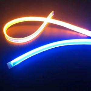 Set 2 benzi LED matrix secventiale pentru faruri, alb-galben