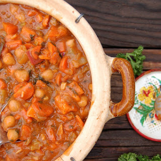 Chunky Veggie Stew with Garbanzo Beans
