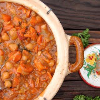 Chunky Veggie Stew with Garbanzo Beans.