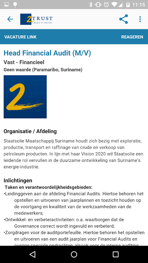 2Trust Finance & Control: screenshot