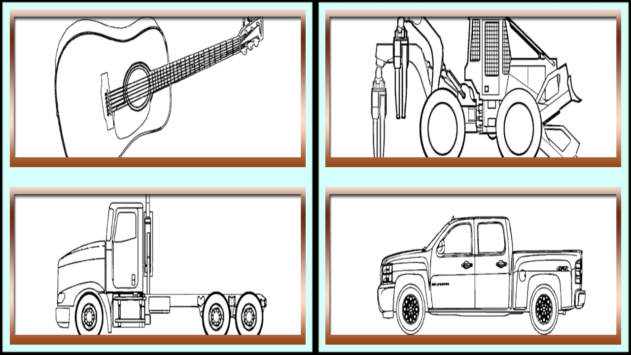 The coloring book book - Coloring Book Game For Boys Screenshot