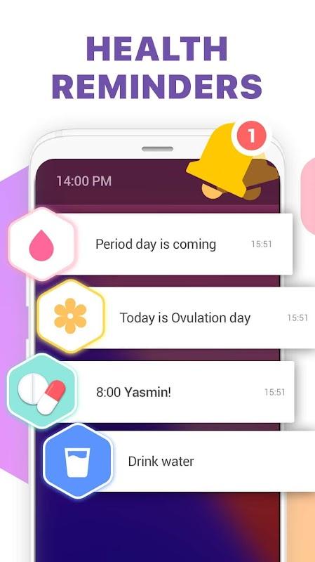 Period Tracker, Ovulation Calendar & Fertility app screenshots