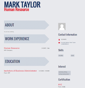 resume builder cv maker screenshot thumbnail - Cv Resume Maker