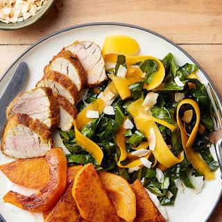 Pork Tenderloin With Turmeric, Squash, and Collard Greens Salad recipe | Epicurious.com.