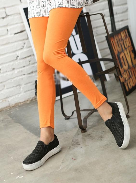 pomarańczowe legginsy dla dzieci