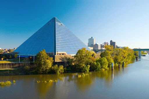 Memphis--Pyramid-Arena.jpg - Explore the Pyramid Arena along Wolf River in Tennessee during an American River Cruises sailing.