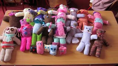 Photo: Third Class Knitting                        (Our Teddies)