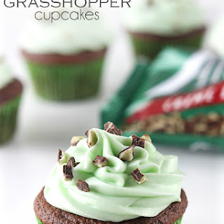 Andes Mint Grasshopper Cupcakes