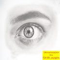 How to draw eyes easy icon