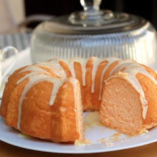 Easy Orangesicle Cake Mix Bundt Cake.
