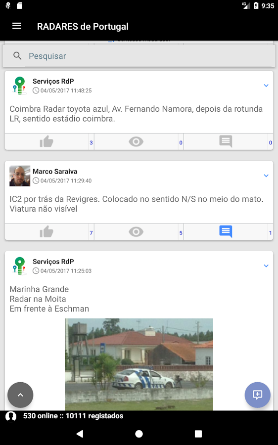 RADARES de Portugal- screenshot