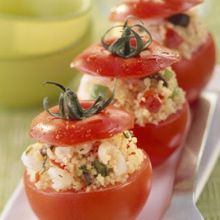 Couscous and Shrimp Stuffed Tomatoes