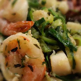 Garlic Shrimp and Scallops.