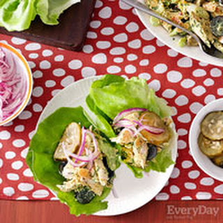Coronation Chicken Salad Lettuce Wraps.