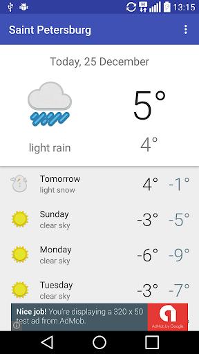 Saint Petersburg RU - weather
