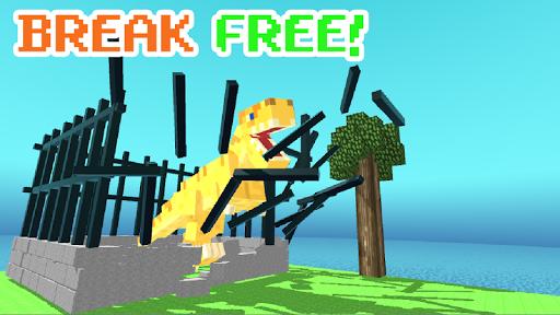 Blocky Dino Park: T-Rex Rampage apk mod capturas de pantalla 1