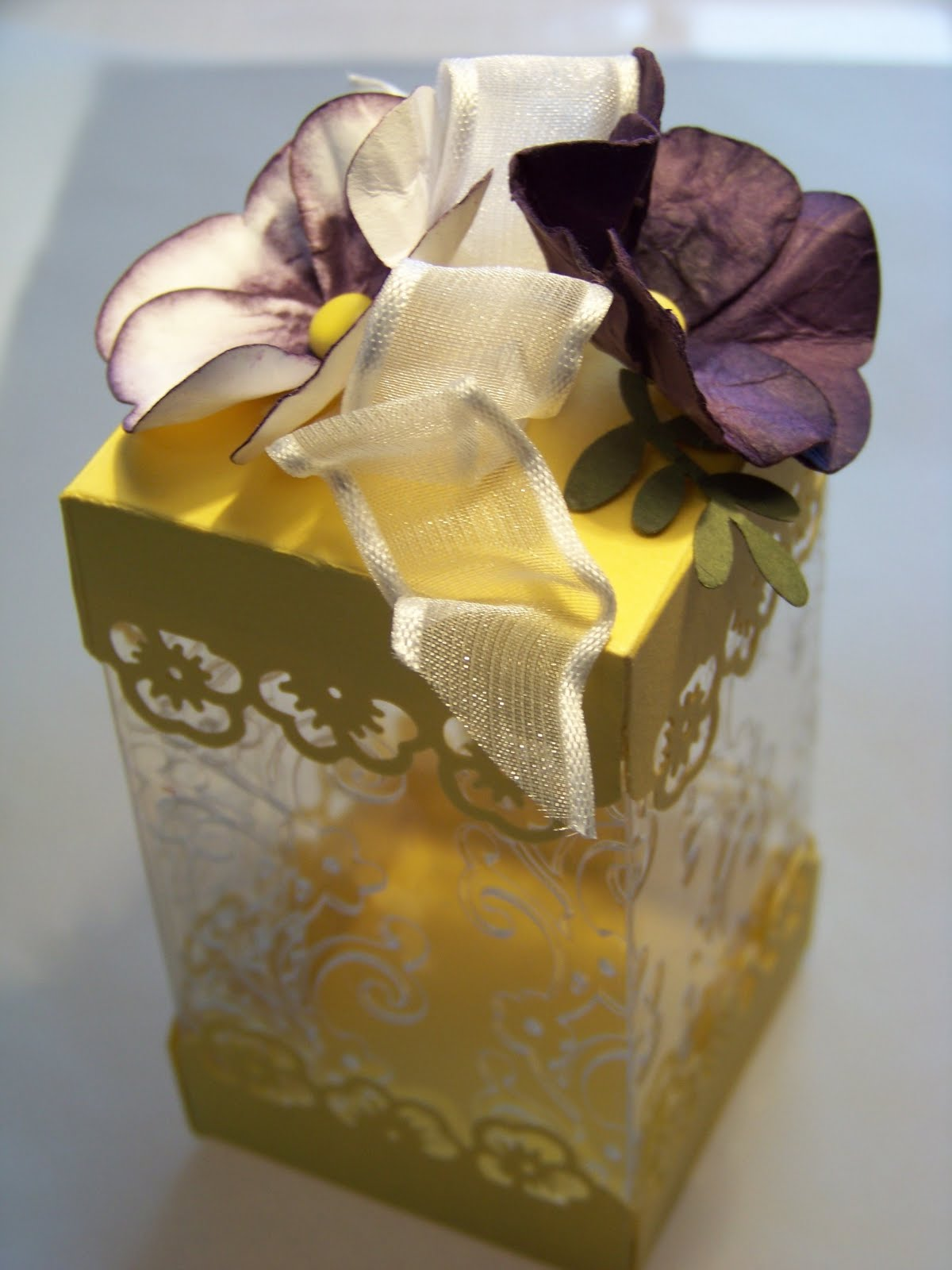Photo: favor box I made for the Ladies Tea at our church.