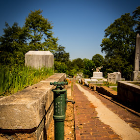 Oakland Cemetery by James Woodward - City,  Street & Park  Cemeteries ( water spigot, georgia, classic, old, cemetery )