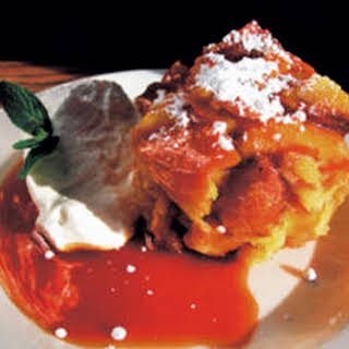 Bread Pudding with Orange Caramel Sauce.
