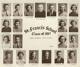 Photo: 8th grade graduating class of 1957