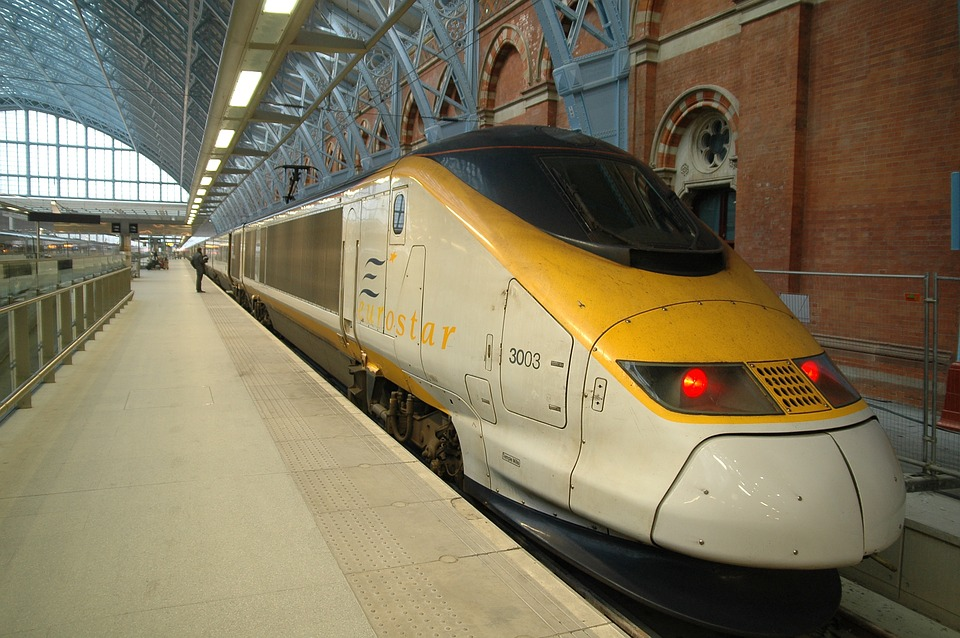 Eurostar train at Waterloo, London