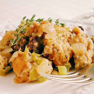 New England Sausage Stuffing with Chestnuts