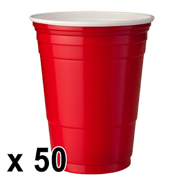 50 st. Red Cups Röda Muggar (16 Oz.)