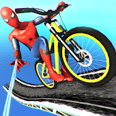 BMX Superhero Bicycle Stunts