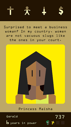 Reigns Android App Screenshot