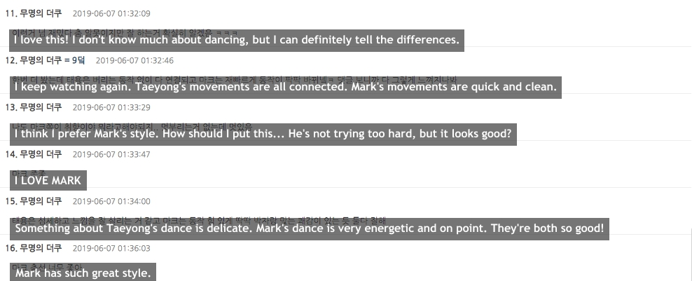 taeyong mark comments