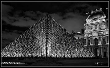 Photo: Louvre Pyramid Paris my contribution to #MonochromeMonday +Hans Berendsen +Monochrome Monday by 110041558267751969861 +Charles Lupica +Steve Barge +Nurcan Azaz #breakfastclub by +Gemma Costa
