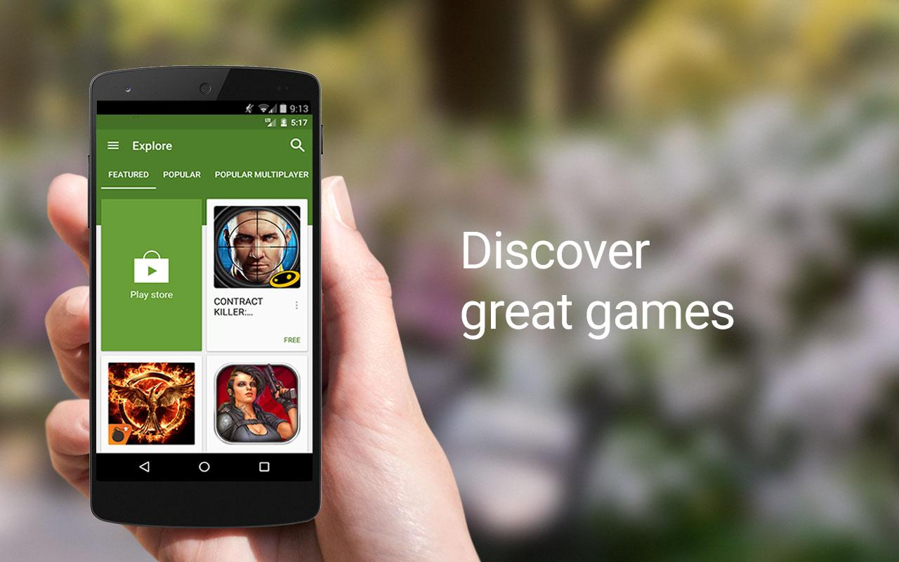Screenshots of Google Play Games for iPhone