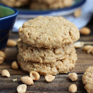 Vegan Peanut Butter Oatmeal Cookies.